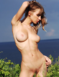 Model lanna in green bushes